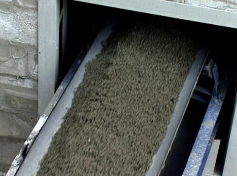 Beltline On Cement Factory stock footage