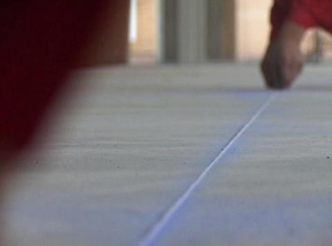 concrete floor marking Footage