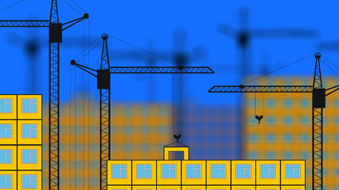 building houses Stock Video Footage