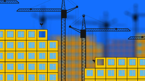 Building Houses stock footage