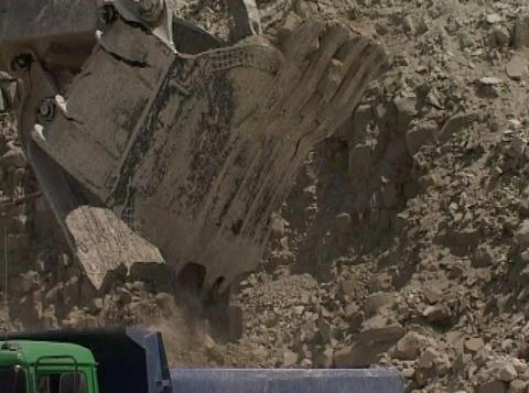 excavator in quarry Footage