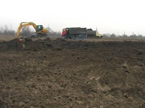 excavators work Footage