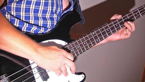 playing at guitar Footage