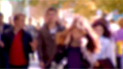 blurry people background Footage
