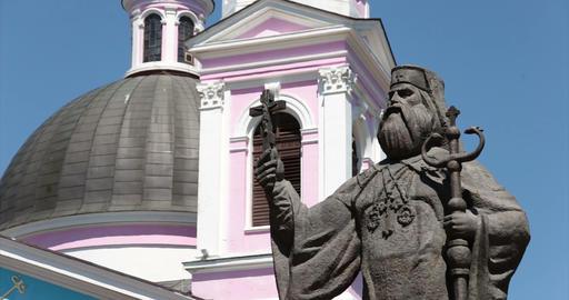 Cathedral. Chernivtsi, Ukraine. Monument Metropolitan Hackman Footage