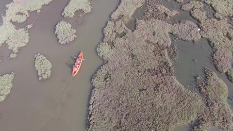 Canoeing At Turkey stock footage