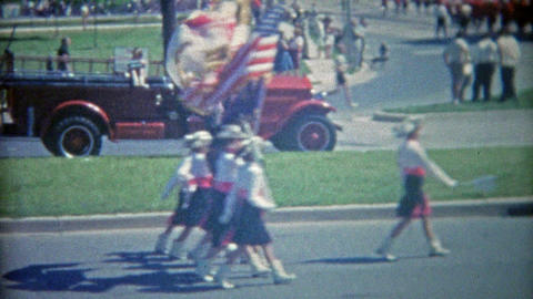 1963: Women's army corps led 4th of July parade Footage