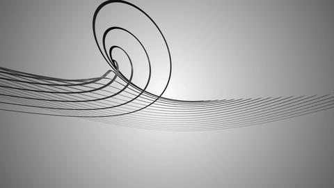 black helix lines Animation