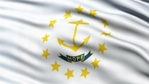 4K Rhode Island state flag seamless loop Ultra-HD Animation