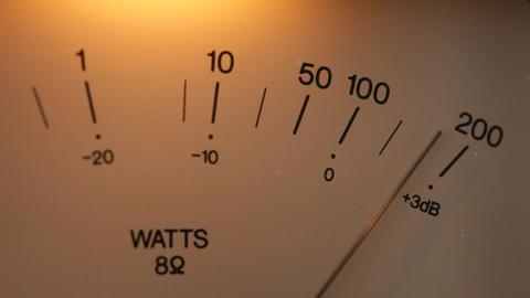 Vintage Audio Meter Instrument stock footage