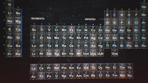 Periodic table of the elements CG動画素材