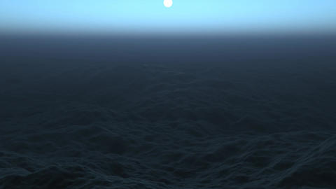 Dark Ocean Stock Video Footage
