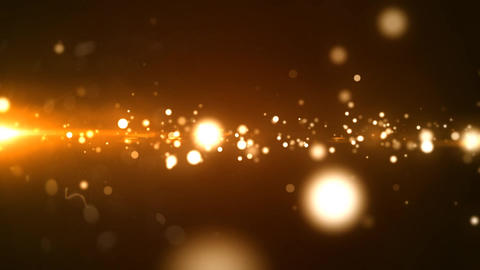 Glowing Golden Particle Stock Video Footage