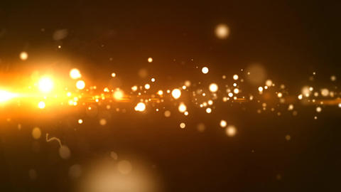 Glowing Golden Particle Footage