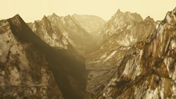 Hover Over Mountain stock footage