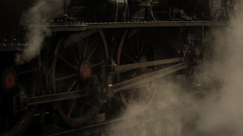 Vintage steam locomotive Footage