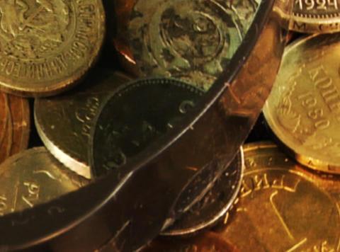 coins background loop ビデオ