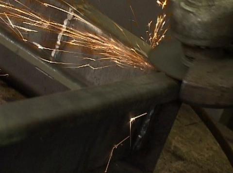 metal grinding Footage