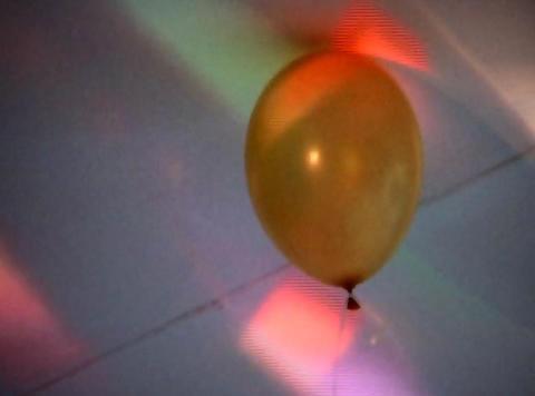 balloon in lights Footage