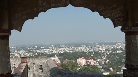 Aerial View Of Pune City, India stock footage