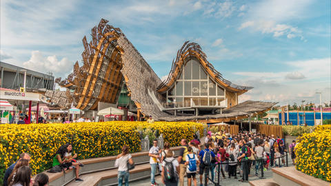 EXPO 2015 at Chinese pavilion on EXPO Milan 2015 Footage