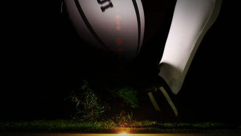 Player kicking fiji rugby ball Animation