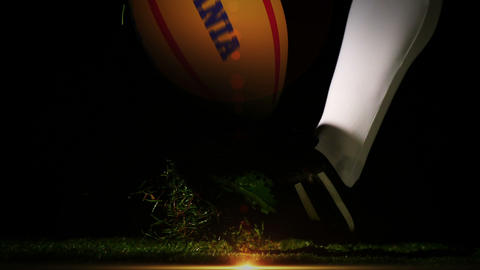 Player kicking romania rugby ball Animation