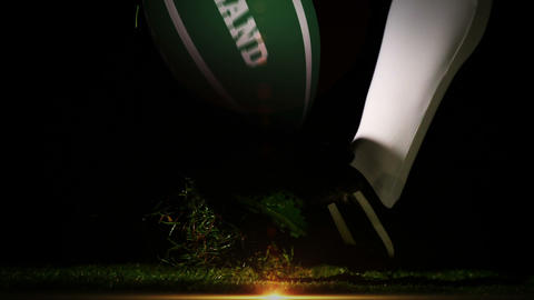 Player kicking ireland rugby ball Animation