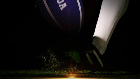 Player kicking samoa rugby ball Animation