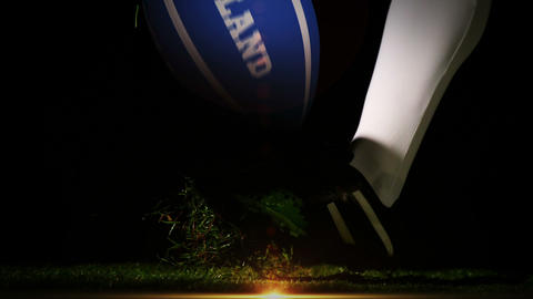 Player kicking scotland rugby ball Animation