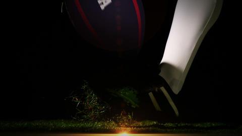 Player kicking usa rugby ball Animation