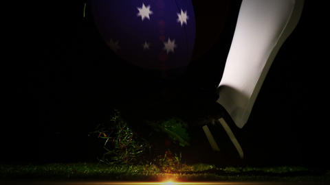Player kicking australia rugby ball Animation