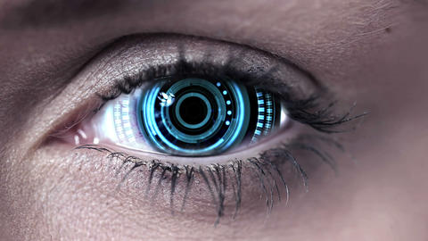Technology code design in human eye Animation