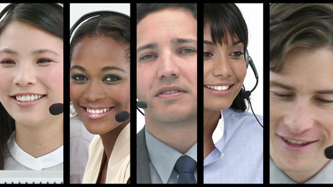 Call centre employees at work Animation