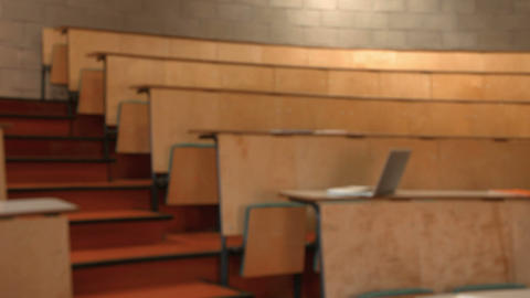 Empty lecture hall Footage