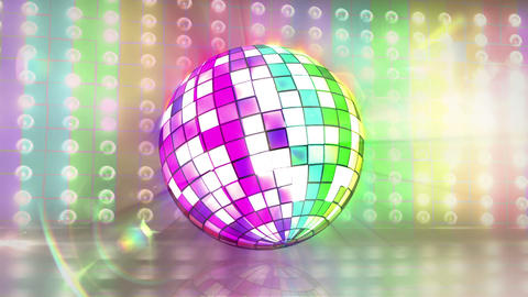 Disco ball revolving with gay pride flag Animation