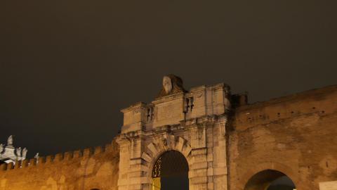 Porta San Giovanni. Rome, Italy. 4K Footage