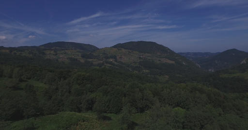 Countryside aerial in Bosnia and Herzegovina Footage