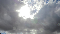 Clouds passing by, sun and clouds Footage
