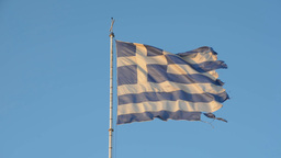 Flag of Greece in the wind Footage
