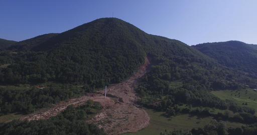 The mosque destroyed in landslides Footage