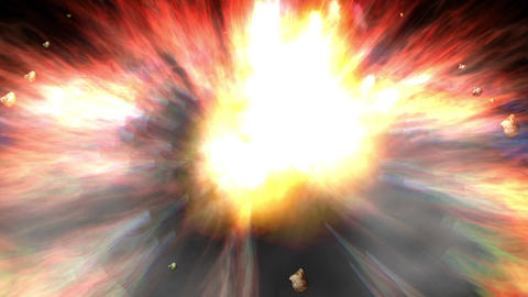 Digital Animation Of A Cosmic Explosion In 4K stock footage