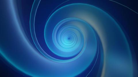 blue glossy twirly Animation