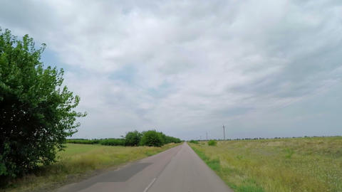 Driving a Car on a Country Road Footage