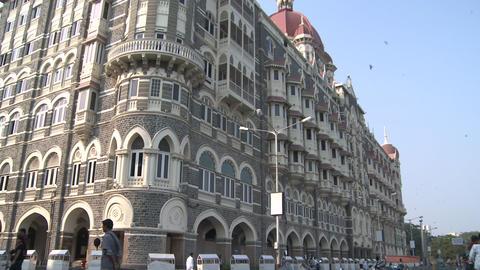 Taj Mahal Palace and Tower Hotel - Mumbai, India Footage