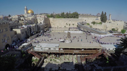 4K, Masses of people at the western wall (time lapse) Footage