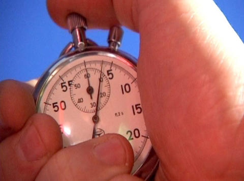Stop-watch In Hand stock footage