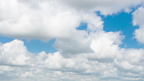 White Clouds In The Blue Sky, Timelaps stock footage