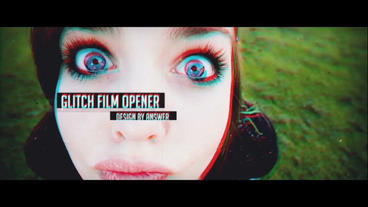 Glitch Film Opener After Effects Project