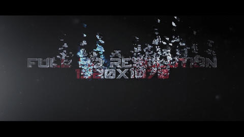 DISINTEGRATION After Effects Template
